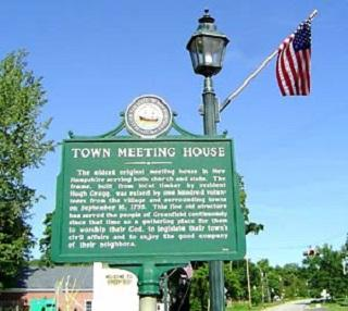 Town Meeting House Historical Marker
